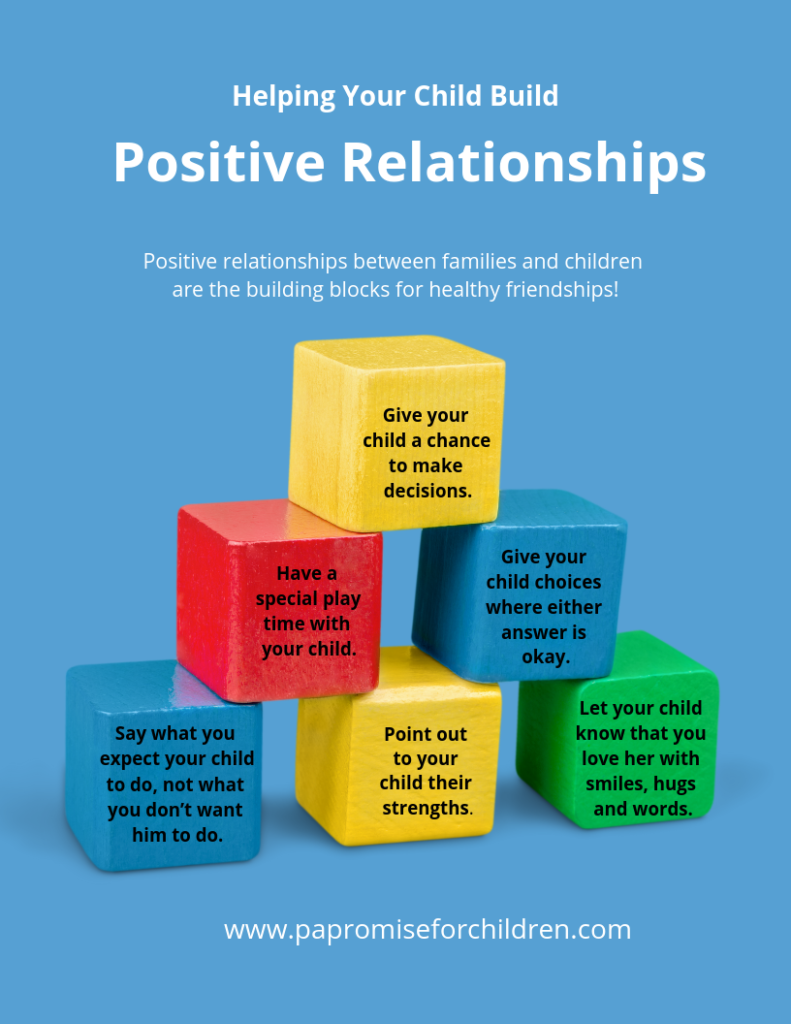 Developing Positive Relationships Pa Promise For Children