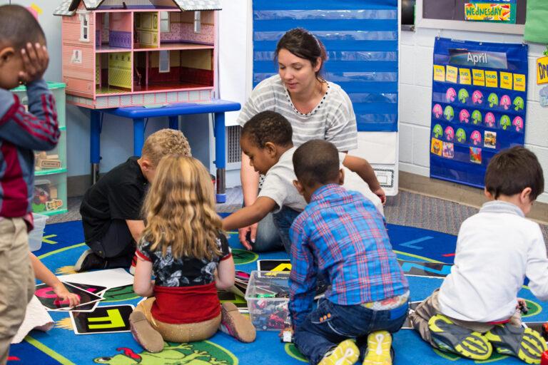 group of children in preschool setting