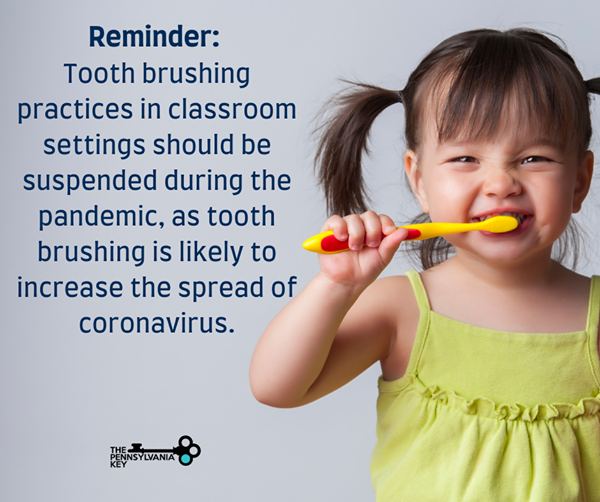 Although we want their pearly white teeth to be brushed at home, #toothbrushing practices in classroom settings should be suspended during the #pandemic as tooth brushing is likely to increase the spread of #coronavirus. #childcare #healthy #children #earlylearning #families
